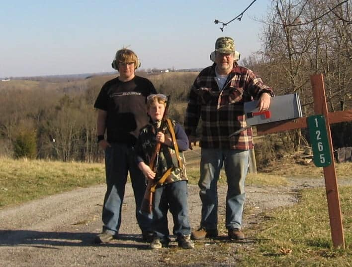 Angus (center) with his M44