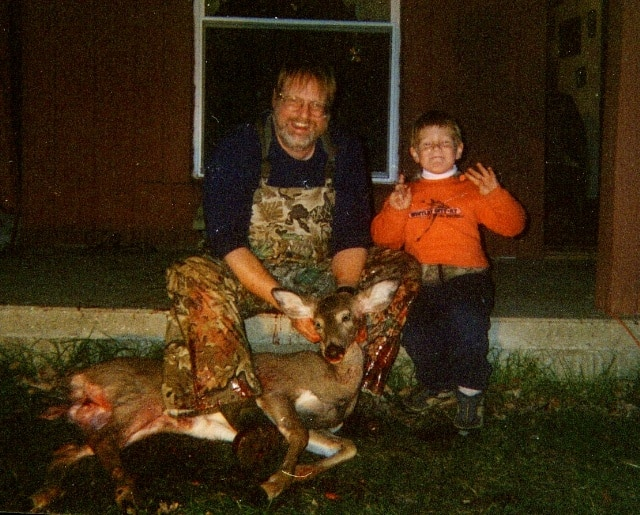 Angus and his doe in 2003