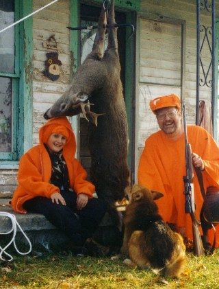 Moose out hunting with me in 2001